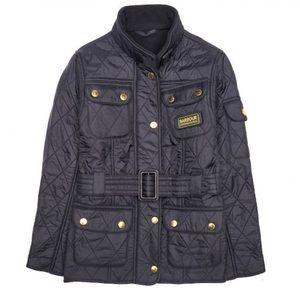 Black Barbour International Quilted Jacket